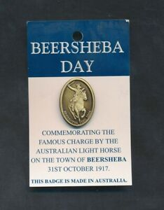 Australia-2004-Beersheba-Day-Commemorating-the-Charge-Badge-with-pin