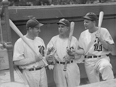Boston Braves Jim Tobin /&Tom Earley sitting on the dugout steps 8X10