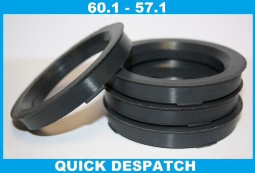 4 x 60.1-57.1 LEGA RUOTA gli anelli di centraggio HUB colletto di adattarsi VW PASSAT B6
