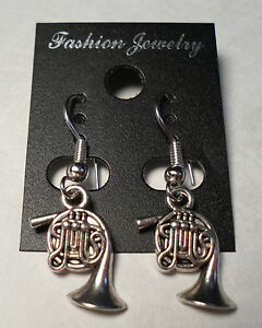 Image Is Loading Tibet Silver French Horn Earrings Hooks