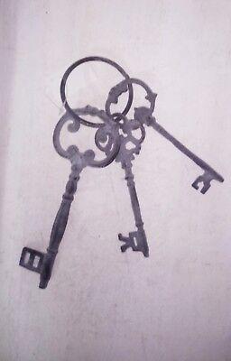 Schlüssel Deko Antik Schlüsselbund Dekoschlüssel Shabby Metall Gusseisen braun