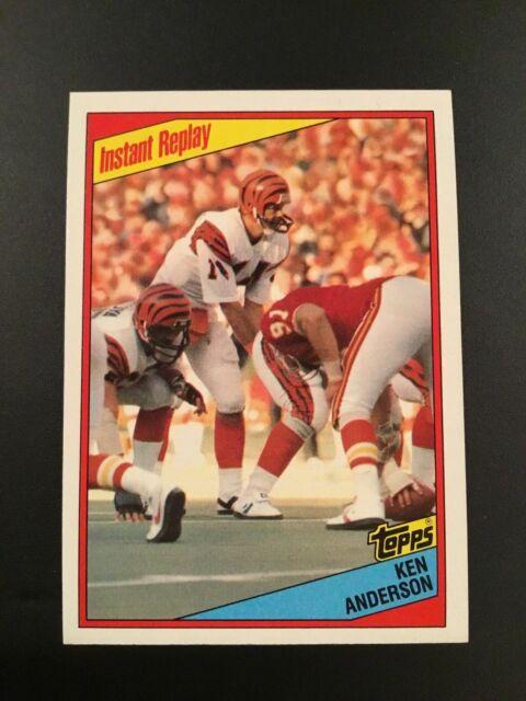 1984 Topps #35 KEN ANDERSON Cincinnati Bengals Instant Replay NM-MT SHARP LOOK