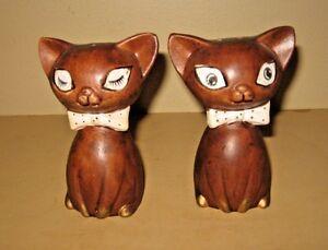 vintage lego winking kitty cats salt pepper shakers ebay