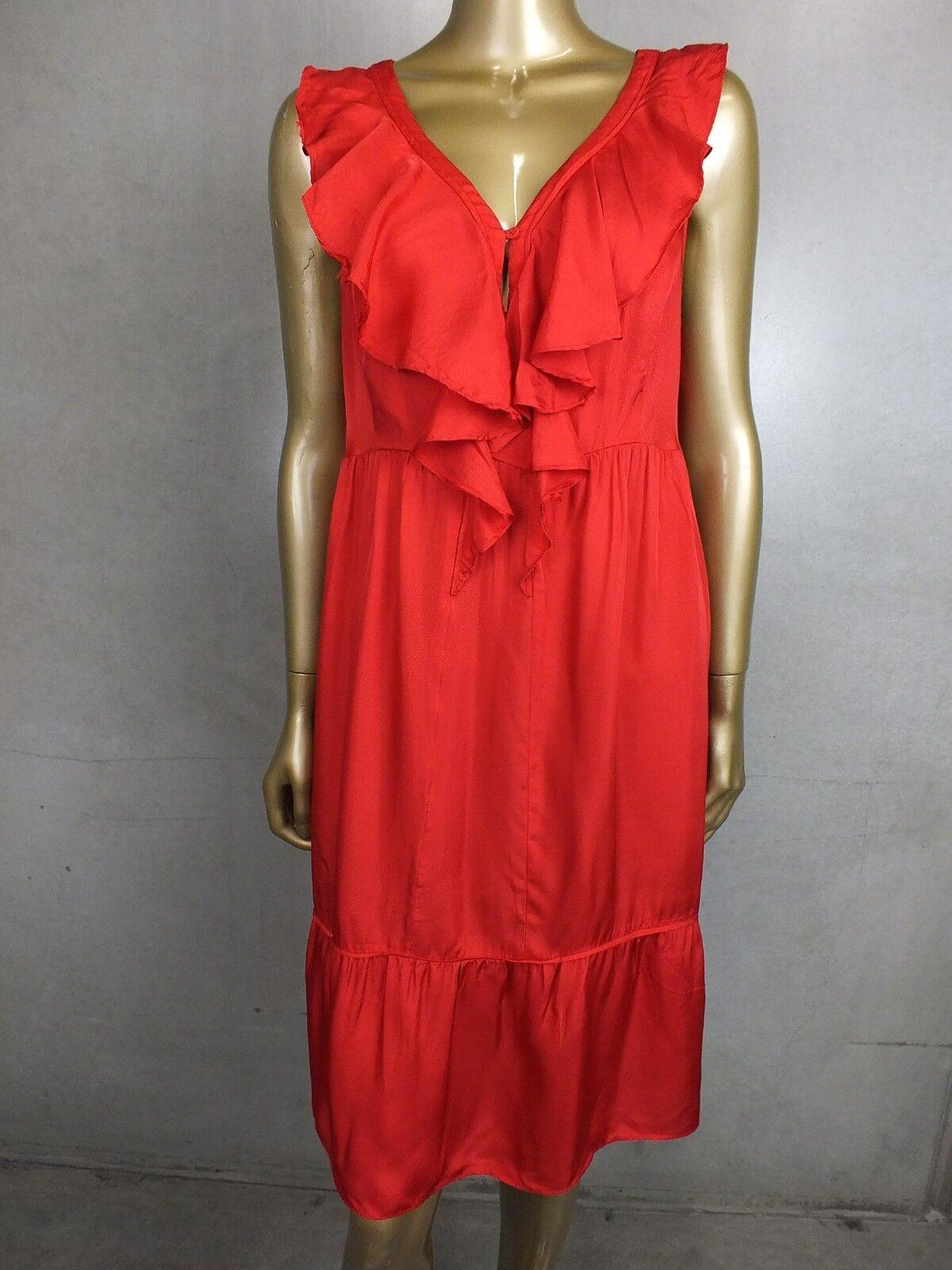 COUNTRY ROAD DRESS - RED RUFFLE FRILLS - TUNIC SKIRT DRESS - SIZE LARGE