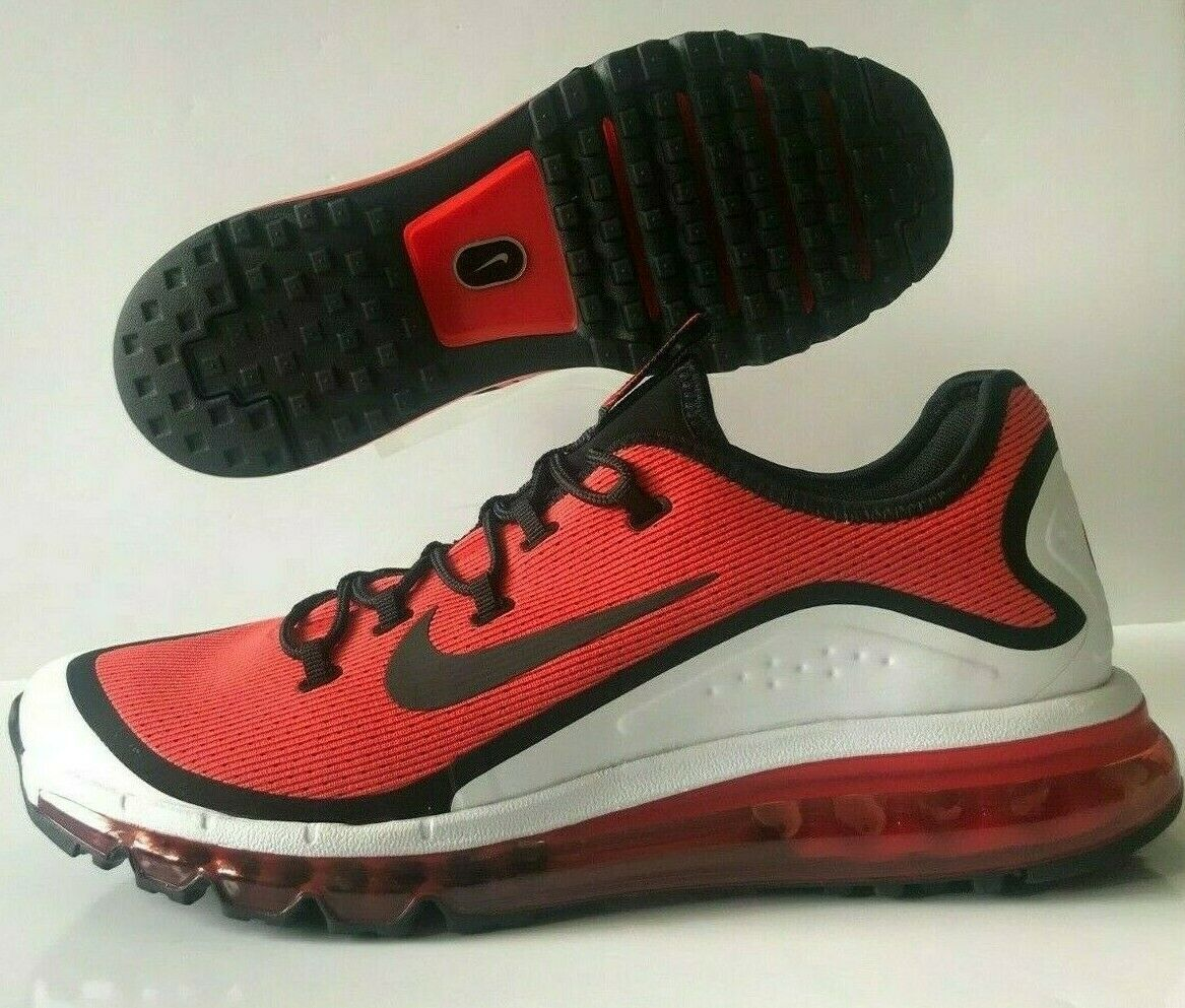 Nike Air Max More Habablack Red Black White Sneakers Men's SZ (AR1944-600)