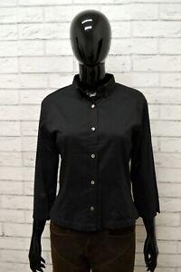 Camicia-BROOKSFIELD-Donna-Taglia-Size-42-Maglia-Chemise-Shirt-Woman-Cotone-Nero