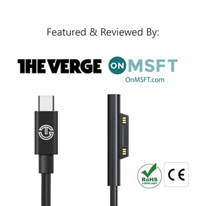 Surface Connect To USB C Charging Cable by J-Go Tech | Requires PD 45W (15V/3A)