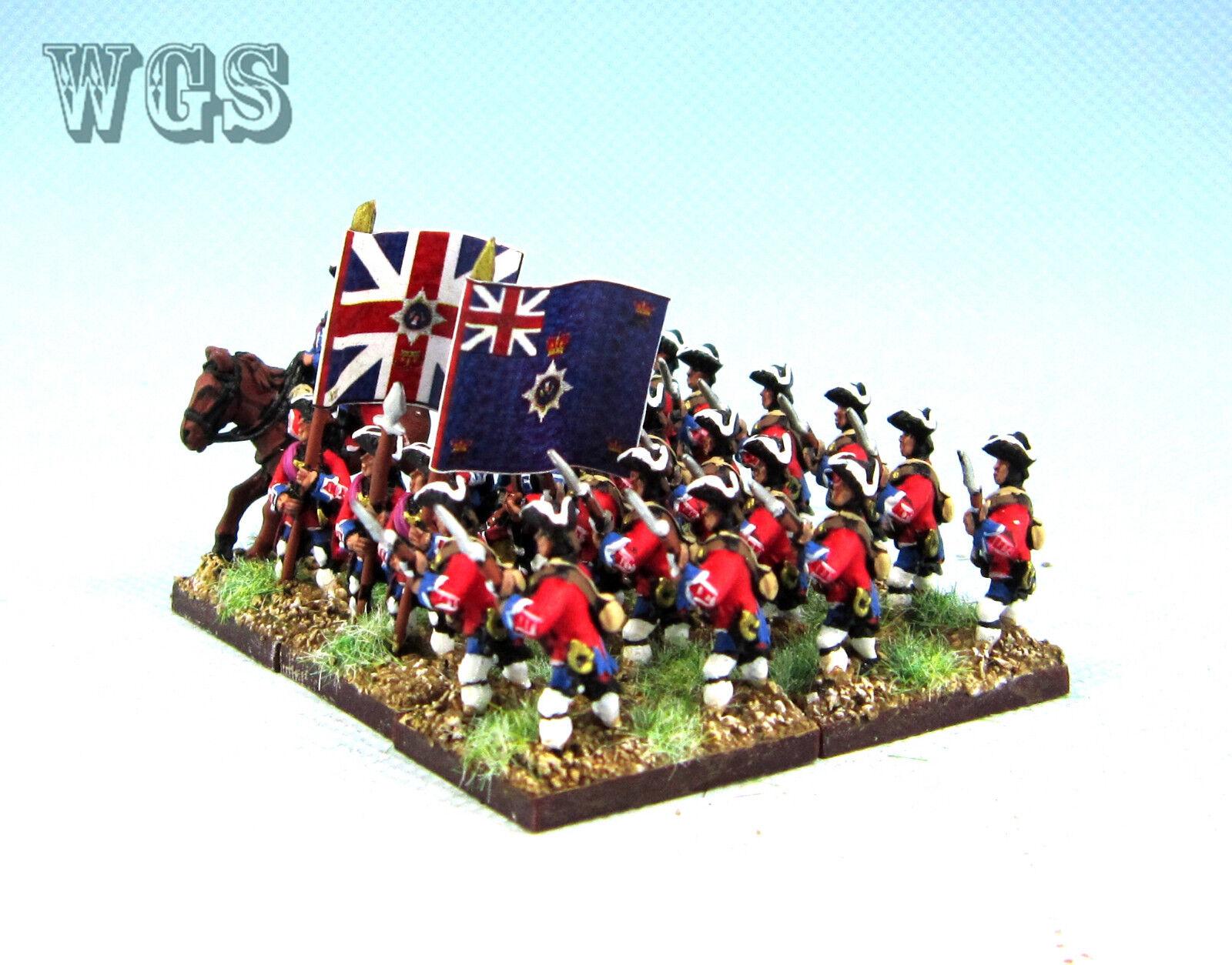 15 syw sieben jahre krieg britische musketier adavancing ba11 wgs gemalt