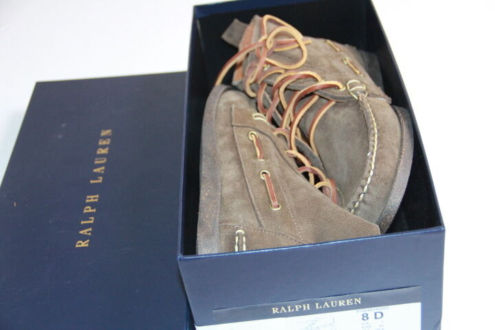 Polo  Ralph Lauren Uomo Suede    Stivali Size 8 Made in USA c6c9e0