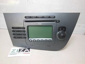 Stereo-Autoradio-Radio-CD-Mp3-Seat-Leon-2008-Blaupunkt-1P1035186-N87