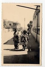 MADAGASCAR DIEGO SUAREZ carte photo femmes dans une rue