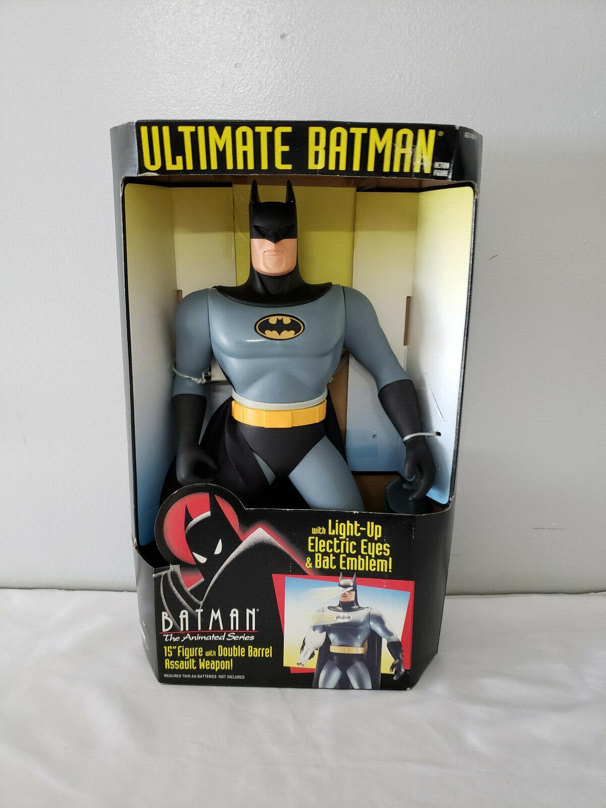 Ultimate Batman 15  Figure w Double Barrel Assault Weapon Lights Up NIB