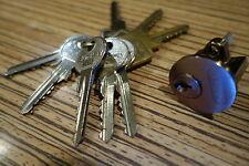 Abus Kastenschloss Rundzylinder   + Brüniert + 7 Schlüssel