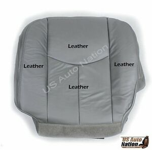 2003 2004 2005 2006 2007 chevy silverado driver bottom leather seat cover gray ebay. Black Bedroom Furniture Sets. Home Design Ideas