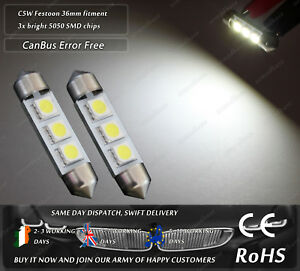 LED-SMD-36mm-Festoon-C5W-239-242-CanBus-White-License-Number-Plate-Lights-Bulbs