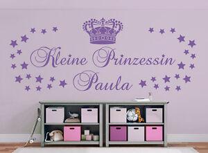 Kleine Prinzessin Name 2 Größen Kinderzimmer Mädchen