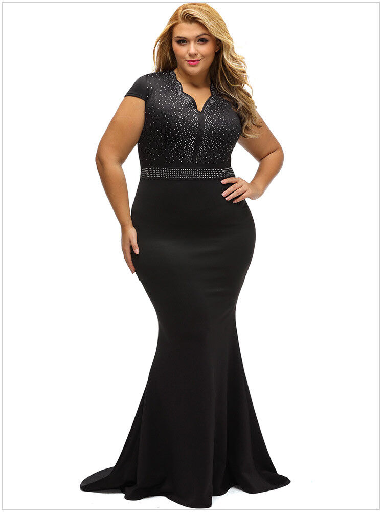 Women\'s Plus Size Formal Bridesmaid Cocktail Evening Party Ball Gown ...