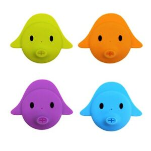 4 Children's Water Bottle Cover Baby Silicone Leakproof Cup Set Flat Mouth  V6W2