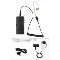 Pryme Bth-300-kit3 Bt Mic W/ Bullet Clear Tube Earphone For Radios + Cell Phones