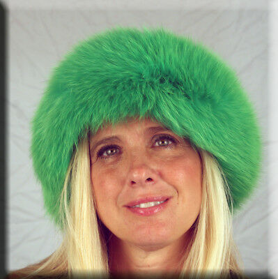 New Kelly Green Fox Fur Headband 26 Inches Long and 5 Inches Wide  d85db52a361