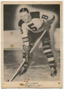 1939/40 OPC Dit Clapper Card #95 Boston Bruins