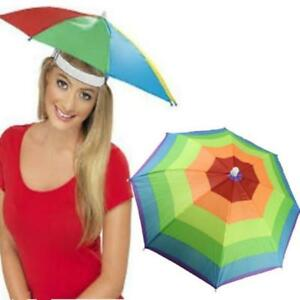 15ecebf99b0ef Image is loading Outdoor-Rainbow-Umbrella-Hat-Cap-Head-Fishing-Camping-