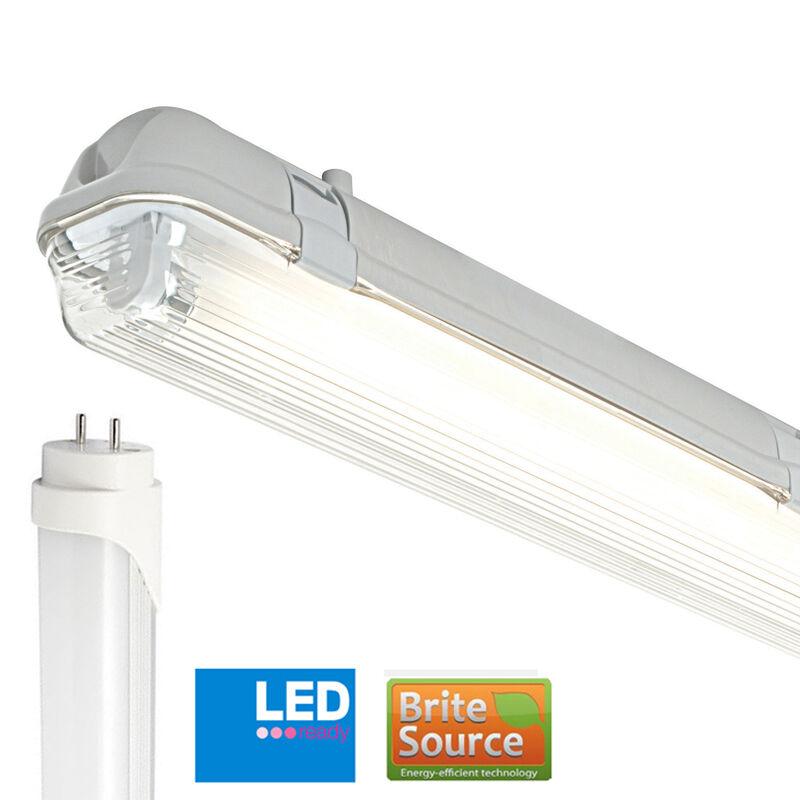Non-Corrosive IP65 4FT Single Batten Fitting T8 Brite Source Daylight LED Tube