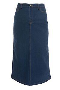 Women's Clothing Ladies Indigo Skirt Size 14