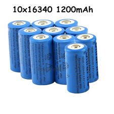 10x 1200Mah Li-ion CR123A 16340 Rechargeable Battery For LED Torch Flashlight