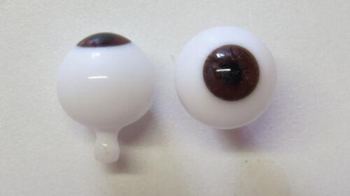 Yeux poupée ancienne Marron  22mm  Brown mouth blown eyes  antique doll