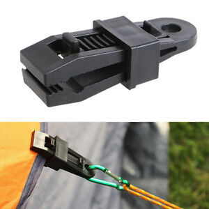 Tents-Wind-Rope-Clamp-Awnings-Outdoor-Camping-Plastic-Clip-Tents-Accessories-New