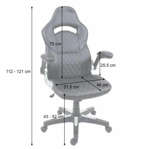 Schreibtischstuhl Drehstuhl Kunstleder weiß B-Ware Bürostuhl MCW-F87