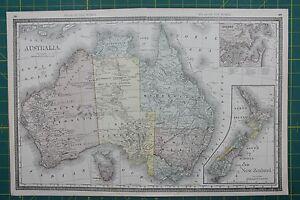 Australia vintage original 1889 rand mcnally world atlas map lot image is loading australia vintage original 1889 rand mcnally world atlas gumiabroncs Images