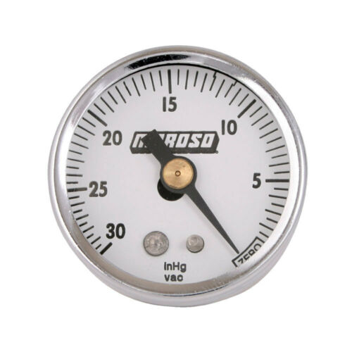 "Moroso Performance VACUUM GAUGE 1.5/"" DIA 0-30 IN 89610"