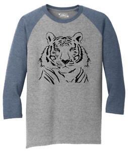 Mens-Tiger-Graphic-3-4-Triblend-Animal