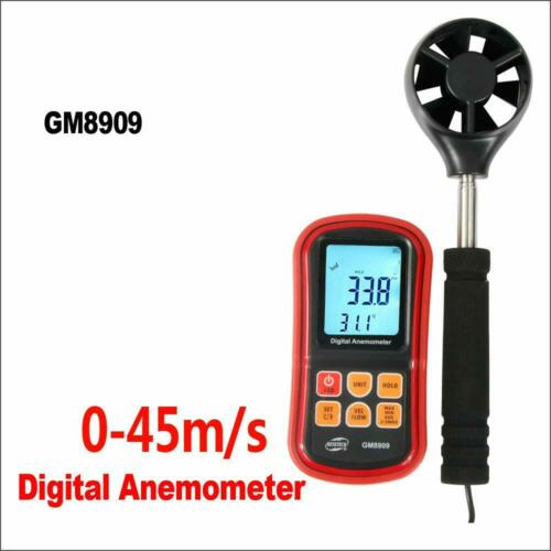 Digital Wind Speed Anemometer Meter hot air Anemometer Wind Velocity GM8909