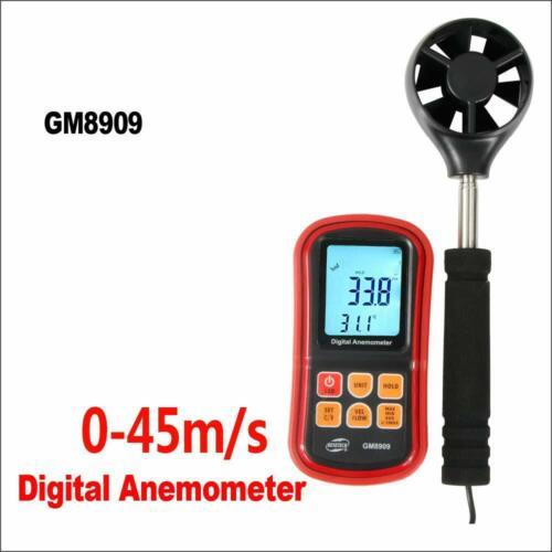 Digital Wind Speed Anemometer Meter hot air Anemometer Wind Velocity GM8909