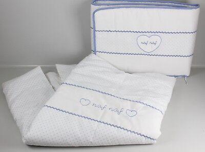 Klein- & Hängeaufbewahrung Naf-naf Bettdecke & Nestchen Exklusive Bettwäsche Bestickt Heart Blau/weiß M3-n Boxen