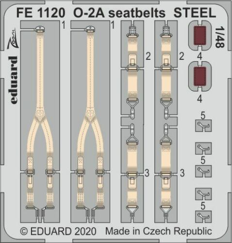 Eduard 1//48 Cessna O-2A Skymaster Seatbelts STEEL Zoom Set # FE1120