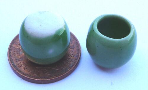 1:12 escala 2 verde cerámica cazuelas 1cm tumdee Casa De Muñecas Accesorio de jardín G10