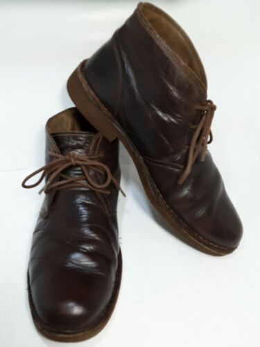 Docker boots brown size 11m lace up  soft leather