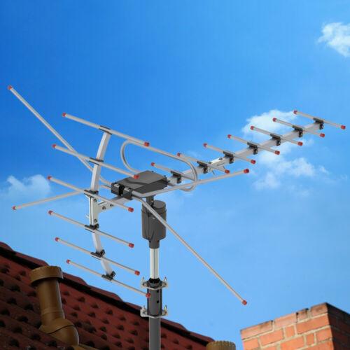 Leadzm 200miles TV Antenna Amplified Long Range Outdoor HD Digital 360° Rotating