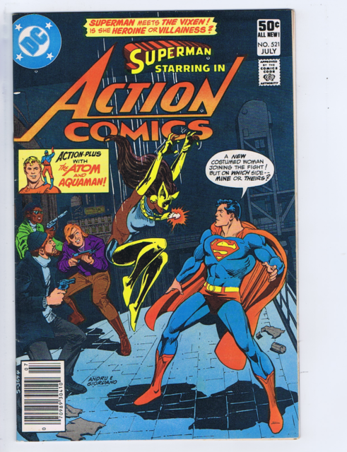 Action Comics #521 DC Pub 1981 The Deadly Rampage of the Lady Fox!   1st Vixen