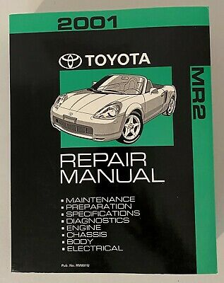 2000 Toyota MR-2 Shop Service Repair Manual Book Engine Drivetrain OEM