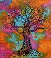 Indian Mandala Tree Of Life Wall Hanging Tie Dye Tapestry Throw Twin Bedspread