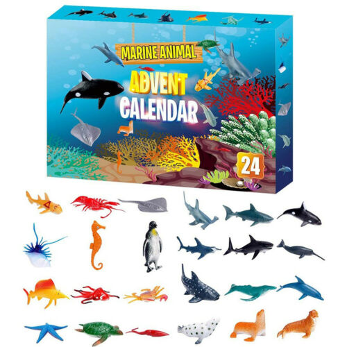 2020 Christmas Advent Calendar 24PCS Marine Animals Toy Countdown Surprise Gift
