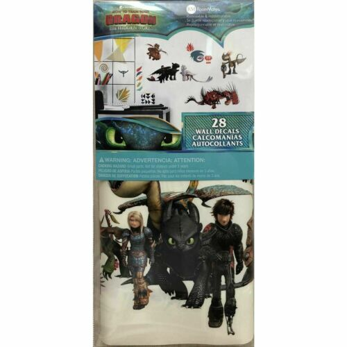 THE HIDDEN WORLD PEEL /& STICK 28 Kids Room WALL DECALS HOW TO TRAIN YOUR DRAGON