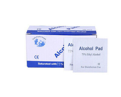 Alcohol Prep Pad Sterile Alcohol Swabs Pads 70/%-75/% Ethanol and Cotton Tablets 1 pack