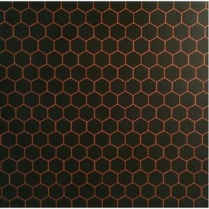 """Kydex Infused Hexagon Purple  with Black Kydex 7 7//8 X 7 7//8/"""" 1 Sheet"""