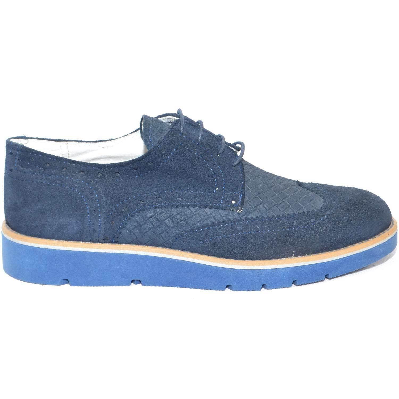 Scarpe pelle uomo stringate made in italy vera pelle Scarpe scamosciato blu fondo antiscivolo 8b74c0
